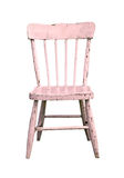 Vintage pink child's chair Stock Photos