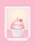 Vintage pink cupcake background Stock Images