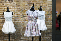 Vintage pink dress Stock Photography
