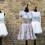 Vintage pink dress Stock Photos