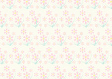 Vintage Pink Flower Pattern on Pastel Color Stock Photo