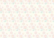 Vintage Pink Flower Pattern on Pastel Color Stock Photo