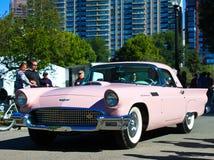 Vintage Pink Ford Thunderbird Stock Photo