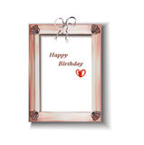 Vintage pink frame with the bow. Background for photos, pictures,greetings vector illustration