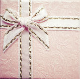 Vintage pink gift box Stock Photos