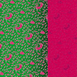 Vintage pink and green floral banner Stock Photo