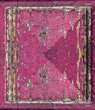 Vintage pink painted wood with  crack grunge background Stock Photo