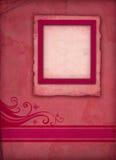 Vintage Pink Photo Frame Stock Images