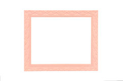 Vintage pink picture frame isolated on white Royalty Free Stock Images