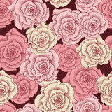 Vintage pink roses seamless pattern Royalty Free Stock Photo