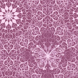 Vintage pink seamless pattern. Pink lacy vintage seamless pattern with mandala and butterfly (vector Stock Photo
