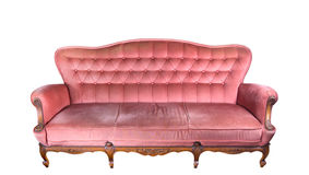 Vintage pink sofa Stock Photo