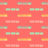 Vintage pink train pattern Royalty Free Stock Photography