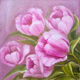 Vintage pink tulips. Royalty Free Stock Photo