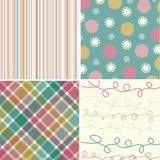 Vintage Pink Turquoise Pattern Royalty Free Stock Images