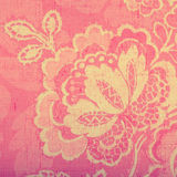 Vintage pink wallpaper. With vignette victorian pattern, square toned image Stock Photo