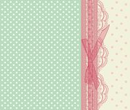 Vintage pink wedding card vector royalty free illustration