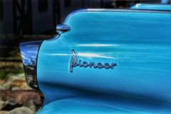 Classic Car tail fin Pioneer Royalty Free Stock Image