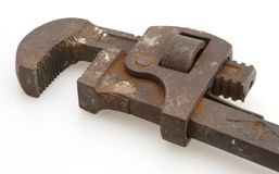 Vintage Pipe Wrench. Old pipe wrench some rust works very well stock photography