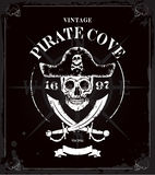 Vintage pirates skull frame background Royalty Free Stock Photo