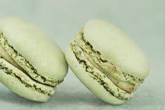 Vintage  Pistachio Macarons Stock Images