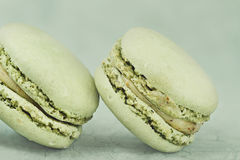 Vintage  Pistachio Macarons Royalty Free Stock Photography