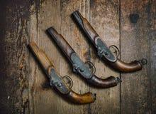 Vintage Pistols Stock Images