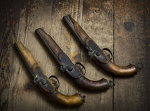 Vintage Pistols Royalty Free Stock Images