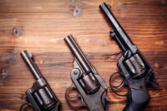 Vintage pistols Stock Photo