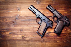 Vintage pistols Stock Photography