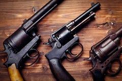 Vintage pistols Stock Photography
