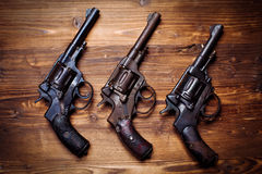 Vintage pistols Royalty Free Stock Photos