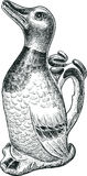 Vintage pitcher drake Stock Image