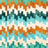 Vintage pixel seamless pattern with grunge effect Stock Image