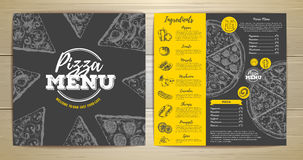 Vintage pizza menu design Royalty Free Stock Photos