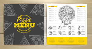 Vintage pizza menu design Stock Images