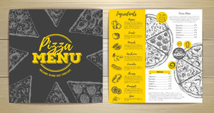 Vintage pizza menu design Stock Photo