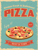 Vintage Pizza poster Royalty Free Stock Photos