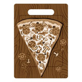 Vintage pizza in sepia Stock Photo