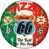 Vintage pizza sign Royalty Free Stock Image