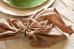 Vintage Place Setting Stock Images