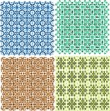 Vintage plaid abstract patterns set vector design Royalty Free Stock Photos