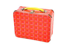 Vintage Plaid Metal Lunch Box Stock Images
