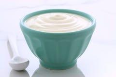 Vintage plain yogurt Stock Image