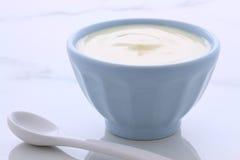 Vintage plain yogurt Stock Photo
