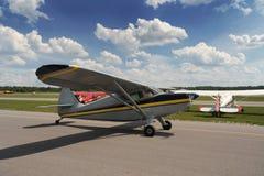 Vintage plane. Prepares fot take-off (3 Stock Image