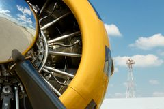 Vintage Plane Engine Royalty Free Stock Photography