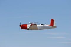 Vintage plane in flight royalty free stock photos