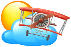 A vintage plane flying Royalty Free Stock Photography