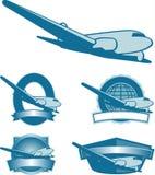 Vintage Plane Labels Stock Photos